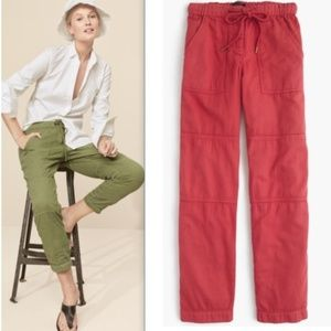 J. Crew Pull-on Cargo Pant in Red
